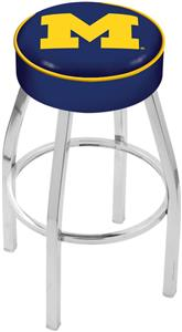 Holland University of Michigan Chrome Bar Stool
