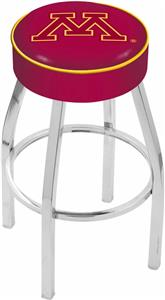 Holland University of Minnesota Chrome Bar Stool