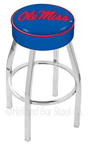Holland University of Mississippi Chrome Bar Stool