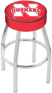 Holland University of Nebraska Chrome Bar Stool
