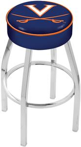 Holland University of Virginia Chrome Bar Stool