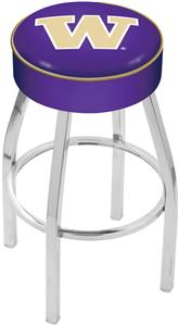 Holland University of Washington Chrome Bar Stool
