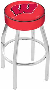 Holland Univ of Wisconsin W Chrome Bar Stool