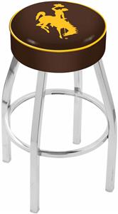Holland University of Wyoming Chrome Bar Stool