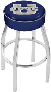Holland Utah State University Chrome Bar Stool