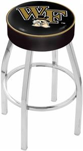 Holland Wake Forest University Chrome Bar Stool