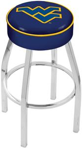 Holland West Virginia Univ Chrome Bar Stool