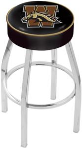 Holland Western Michigan Univ Chrome Bar Stool