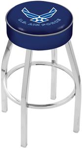Holland United States Air Force Chrome Bar Stool