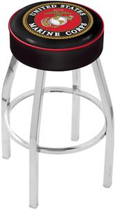 Holland United States Marine Corp Chrome Bar Stool