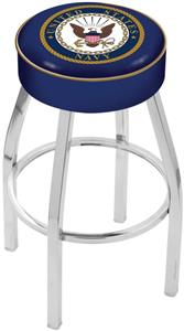 Holland United States Navy Chrome Bar Stool