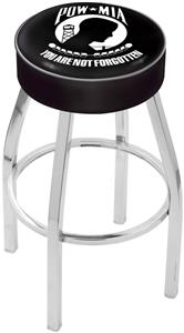 Holland Military POW/MIA Chrome Bar Stool