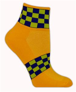 Red Lion Checkerboard High Tech 1/4 Crew Socks