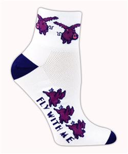 Red Lion Flying Pig High Tech 1/4 Crew Socks