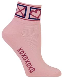 Red Lion Hugs & Kisses High Tech 1/4 Crew Socks