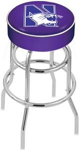 Northwestern University Double-Ring Bar Stool