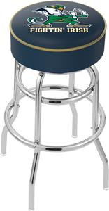 Notre Dame Leprechaun Double-Ring Bar Stool