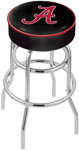 University Alabama Script A Double-Ring Bar Stool