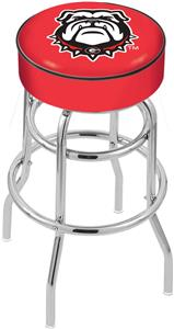 University Georgia Bulldog Double-Ring Bar Stool