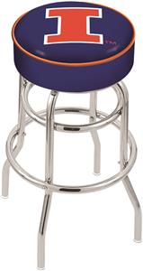 University of Illinois Double-Ring Bar Stool