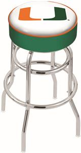 University of Miami (FL) Double-Ring Bar Stool