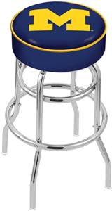 University of Michigan Double-Ring Bar Stool