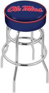 University of Mississippi Double-Ring Bar Stool