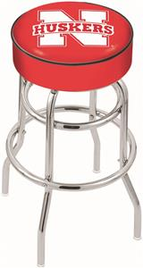 University of Nebraska Double-Ring Bar Stool