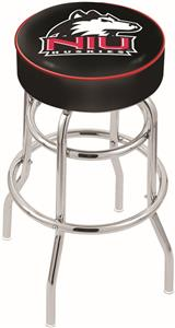 Univ of Northern Illinois Double-Ring Bar Stool