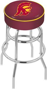Univ of Southern California Double-Ring Bar Stool