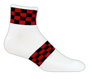 Red Lion Checkerboard 1/4 Crew Socks