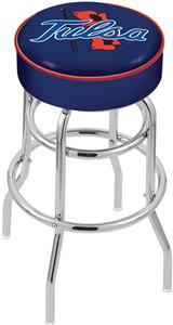 University of Tulsa Double-Ring Bar Stool