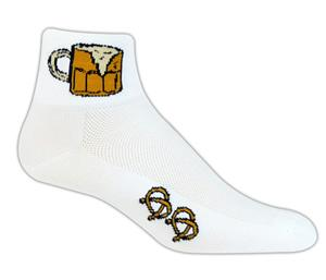 Red Lion Beer & Pretzels High Tech 1/4 Crew Socks