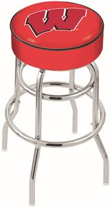 Univ of Wisconsin W Double-Ring Bar Stool