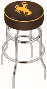 University of Wyoming Double-Ring Bar Stool
