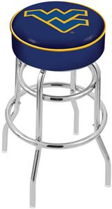 West Virginia University Double-Ring Bar Stool