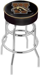 Western Michigan University Double-Ring Bar Stool