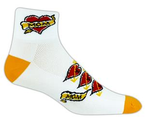 Red Lion Mom Tattoo High Tech 1/4 Crew Socks