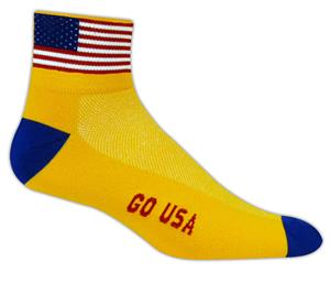 Red Lion Go USA High Tech 1/4 Crew Socks