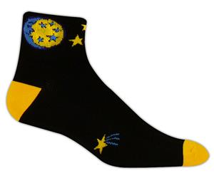 Red Lion Moon & Stars High Tech 1/4 Crew Socks