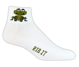 Red Lion Pond Frogs High Tech 1/4 Crew Socks