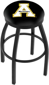 Appalachian State Univ Flat Ring Blk Bar Stool