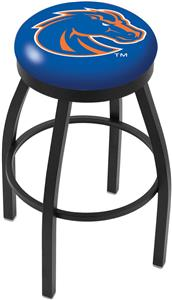 Boise State University Flat Ring Blk Bar Stool