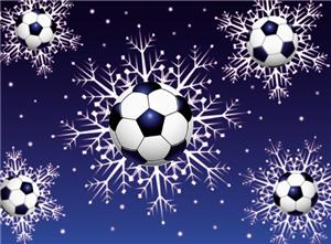 Soccer Ball Snowflake Soccer Greeting Cards
