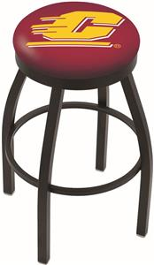 Central Michigan Univ Flat Ring Blk Bar Stool