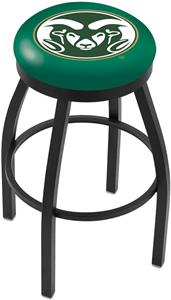 Colorado State University Flat Ring Blk Bar Stool
