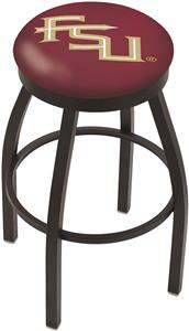 Florida State Script Flat Ring Blk Bar Stool