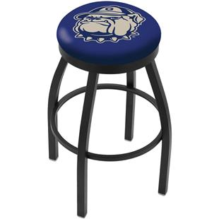Georgetown University Flat Ring Blk Bar Stool