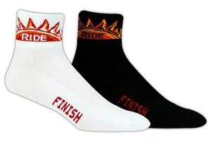 Red Lion Sun Ride-Finish High Tech 1/4 Crew Socks