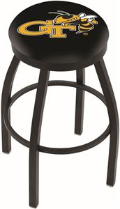 Holland Georgia Tech Flat Ring Blk Bar Stool